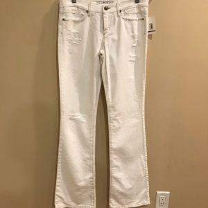 Joe's Jeans The Rocker Distressed White Jeans 28